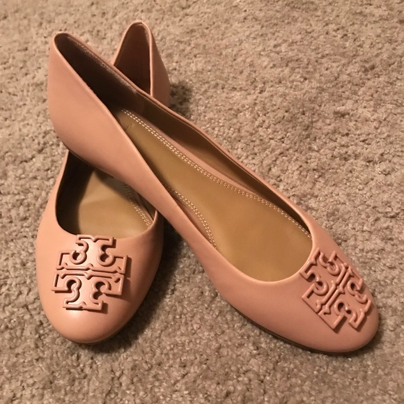 Tory Burch Melinda powder coated ballet flats